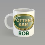 Personalised mugs. Printed with Logo and name.