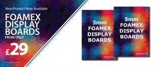 Foamex Display Boards from only £29